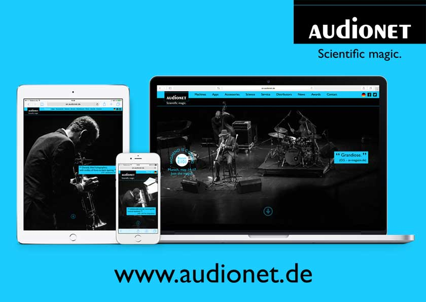 <div class='reftitle'><a href='http://www.audionet.de' target='_blank' class='areftitle'>Audionet</a></div><div class='reftxt'>Scientific magic. Die Website von High End Referenz-Ger&auml;temanufaktur Audionet ist Teamwork von <a href='http://www.geschke.com' target='blank' title='Jan Geschke' title='Jan Geschke'>Jan Geschke</a> (Creative Direction &amp; Brand Consultant) und <a href='http://www.face-the-web.de' target='blank' title='face the web' title='face the web'>Sebastian Bork</a> / face the web (Programmierung Website).</div>